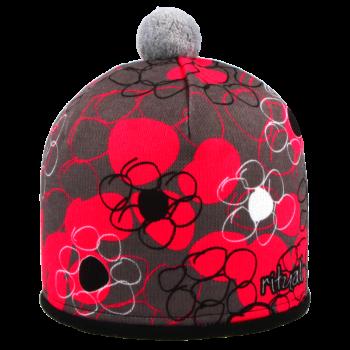 zimní čepice KULATÉ KVĚTY R021MTO