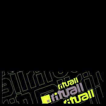 RITUALL čelenka RITUALL černá/neon žlutá