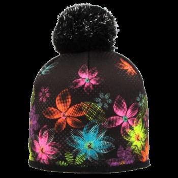 zimní čepice BAREVNÉ KVĚTY R550MA