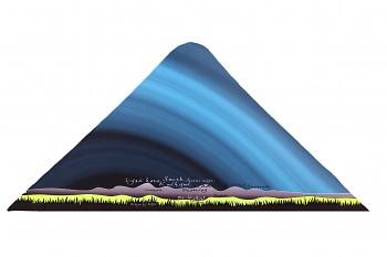 RITUALL trojcípý šátek BESKYDY tyrkysová