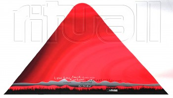 RITUALL trojcípý šátek BESKYDY červená