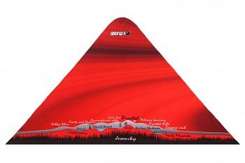 RITUALL trojcípý šátek JESENÍKY červená