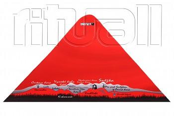 RITUALL trojcípý šátek KRKONOŠE červená