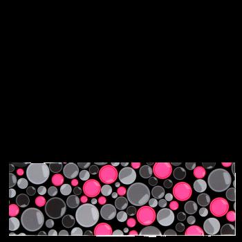 RITUALL čelenka LENTILKY černá/neon růžová