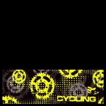 RITUALL čelenka CYCLING černá/neon žlutá