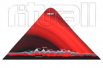 RITUALL trojcípý šátek JAVORNÍKY červená