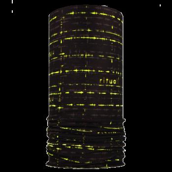 RITUALL multifunkční šátek EKG Mikropolyester černá/neon žlutá