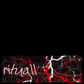 RITUALL čelenka BLESKY černá/červená