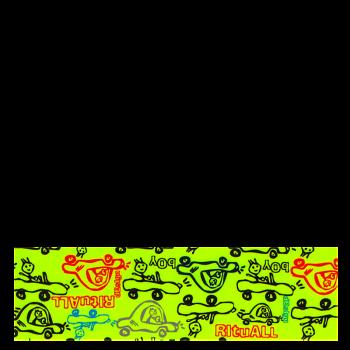 RITUALL čelenka MINICAR neon zelená