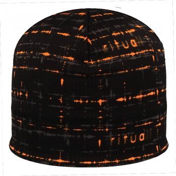 RITUALL podzim/zima čepice EKG Picowinter černá/oranžová