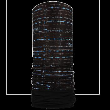RITUALL multifunkční šátek s flisem EKG Mikropolyester černá / modrá