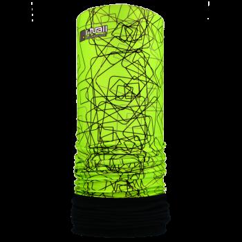 Nákrčník s flisem TVARY R120FS neon zelená