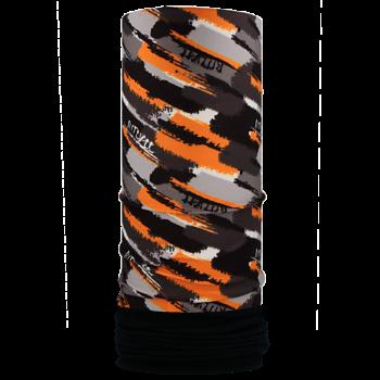 Nákrčník s flisem ŠTĚTCE R285FAG černá/oranžová