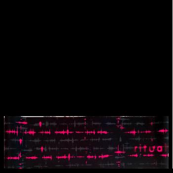 RITUALL čelenka EKG černá/neonrůžová