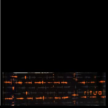 RITUALL čelenka EKG  černá/oranžová