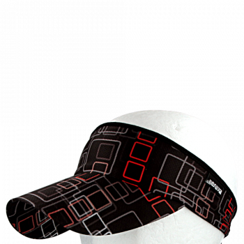 Vázací čelenka s kšiltem Coolmax ČTVERCE R133CB