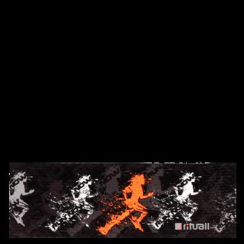 RITUALL čelenka RUN NOW černá/oranžová