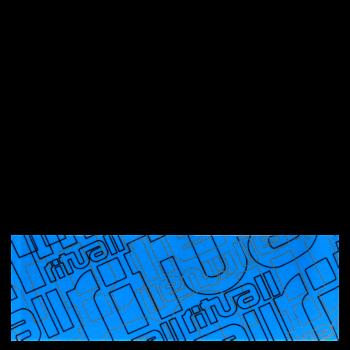 RITUALL čelenka RITUAL NÁPISY  modrá