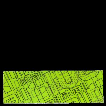 RITUALL čelenka RITUAL NÁPISY zelená