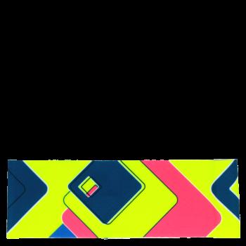RITUALL čelenka BAREVNÉ ZNAKY tyrkys/neon růžová
