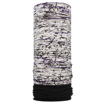 Nákrčník s flisem BŘÍZA R511FJM bílá-fialová