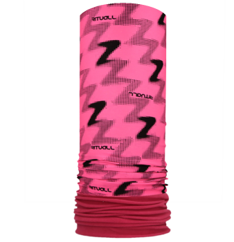 Nákrčník s flisem ZETKO R527FOf fluo růžová