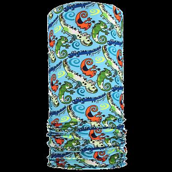 multifunkční šátek KROKODÝL Mikropolyester světle modrá