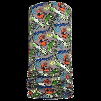 multifunkční šátek KROKODÝL Mikropolyester světle šedá