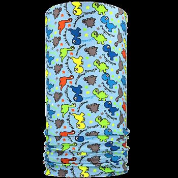 multifunkční šátek MINIDINO Mikropolyester světle modrá