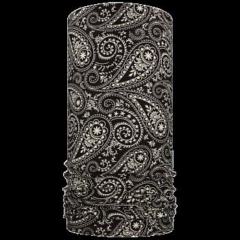 multifunkční šátek KAŠMÍR Mikropolyester černá/smetanová