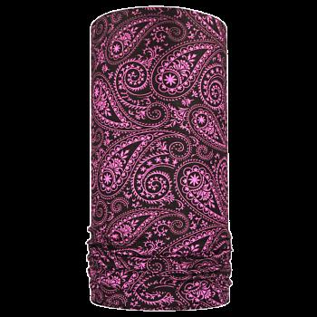 multifunkční šátek KAŠMÍR Mikropolyester černá/lila