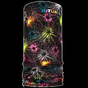 multifunkční šátek OHŇOSTROJ Mikropolyester černá/fuchsie