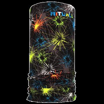 multifunkční šátek OHŇOSTROJ Mikropolyester černá/zelená