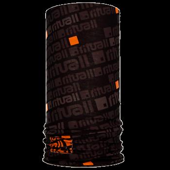 Nákrčník ČTVEREC R549AG černá/oranžová