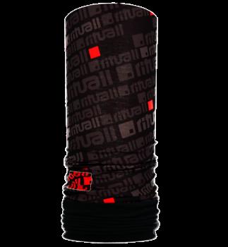 Nákrčník s flisem ČTVEREC R549FAB černá/červená