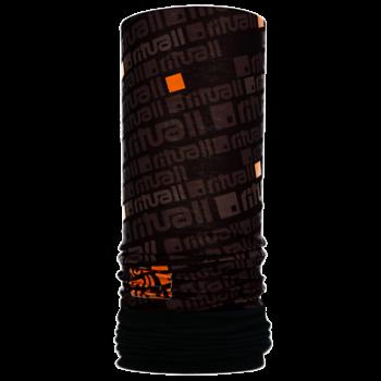 Nákrčník s flisem ČTVEREC R549FAG černá/oranžová