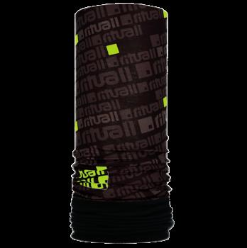 Nákrčník s flisem ČTVEREC R549FAS černá/kiwi