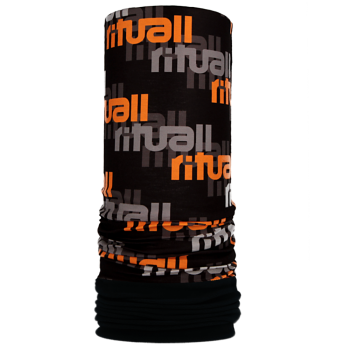 Nákrčník s flisem RITUALL BORDURA R009FAG černá/oranžová