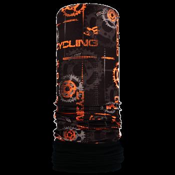 Nákrčník s flisem CYCLING R078FAG černá/oranžová