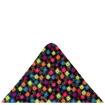 trojcípý šátek BAREVNÉ KVĚTY R344Amix