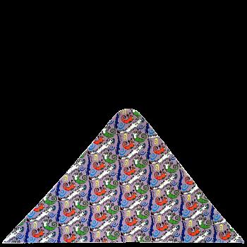 trojcípý šátek KROKODÝL R340H