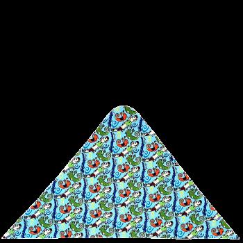 trojcípý šátek KROKODÝL R340R