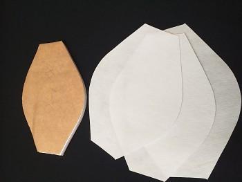 Covid-filtry TVAROVANÉ (řezaná textilie Melt-blown s filtrací 81%) F919   10 ks